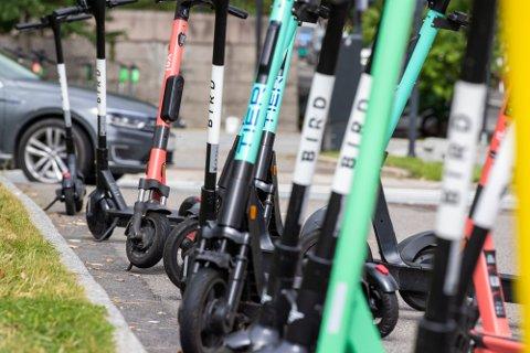 KAN KOMME: Selskapet Bird har henvendt seg til Horten kommune, og kan komme med et utleietilbud av elsparkesykler her i byen om kort tid.