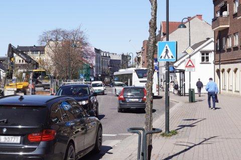 En av Hortens mest trafikkerte gater stenges for gjennomkjøring mellom 5. og 12. mai.
