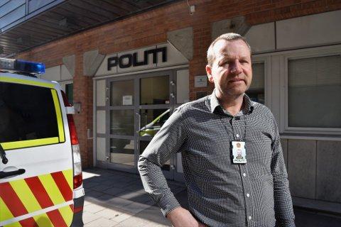 – VÆR FORSIKTIGE: Krimsjef i Horten, Jan Frode Johannessen, ber folk vært varsomme.