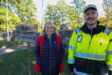 Anne Jæger og Dino Trto inviterer til nok en lysvandring i Borreparken denne høsten.