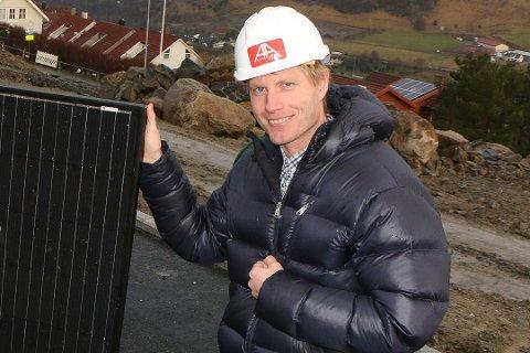 Svein Olav Aalgaard, daglig leder i Aalgaard bygg, er veldig spent på deres nye hytteprosjekt i Sirdal.