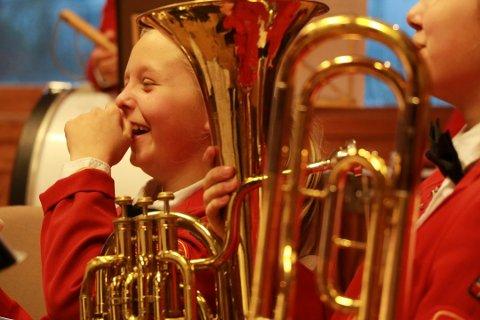 Ålgård skolekorps utsetter alle øvinger til etter påske. Bildet er tatt i en annen sammenheng.