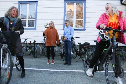 Siri Sægrov Eiane, Linda Espeland, Tor Harald Lunde, Andrea Reime Tjøtta er påmelde «Sykle til jobben»-aksjonen.