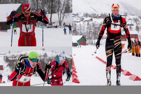 Tor Jøran Ravndal (øverst til venstre) ble beste gjesdalbu med en tiende plass i årets Sesilåmi. Torjus Idland (til høyre) fulgte fem plasser bak ham. Samuel Kleppa ble nummer fire i klassen M15-16.