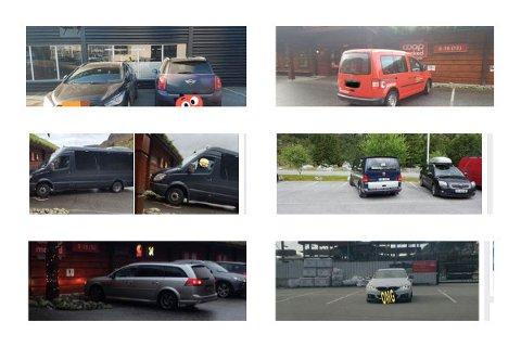 Flere bilister har blitt lagt merke til for sin klønete parkering i Gjesdal.