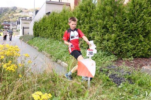 [b]I farta:[/b] Knut Halvor Amdal spurtet de siste meterne til mål.