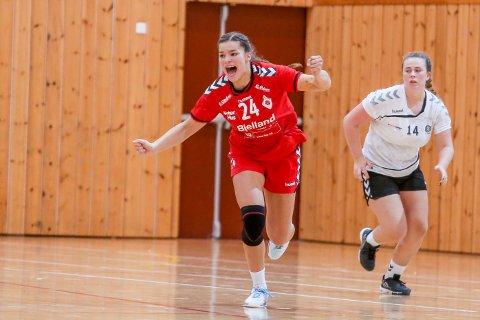 Kristina Sirum Novak scoret åtte mål mot Randesund lørdag, og fulgte opp med hele 14 nettkjenninger mot Våg søndag. Arkivfoto: Bjarte Espedokken.