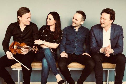 Bjarte Mo, Eirin Aardal, Øystein Gilje og John Morten Storflor utgjør The quartett. Kvartetten skal ha konsert i Ålgård kirke søndag kveld.