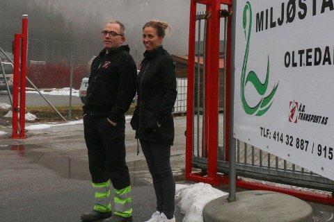 Åge og Lena Oftedal opna Gjesdal Gjenvinning i 2016. No håper dei på å få kommunal støtte til å halda fram. Arkivfoto: Kristine M. Stensland