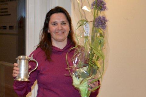Gunvor Kleppa er kasserer i Gjesdal idrettslag. På årsmøtet denne uka ble hun hedret for innsatsen.