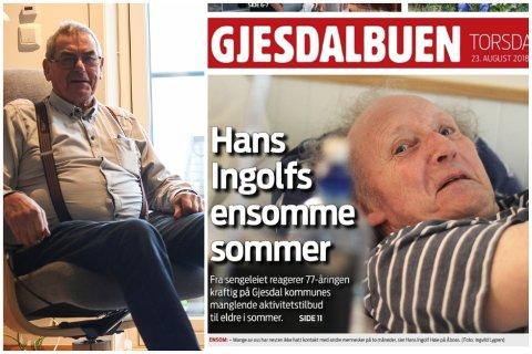 Leserbrevskribent Ivar Brekken stiller spørsmålstegn ved vinklingen i Gjesdalbuens sak om Hans Ingolf Høie, som etterlyser flere aktiviteter om sommeren for de som bor ved Ålgård bo- og aktivitetssenter.