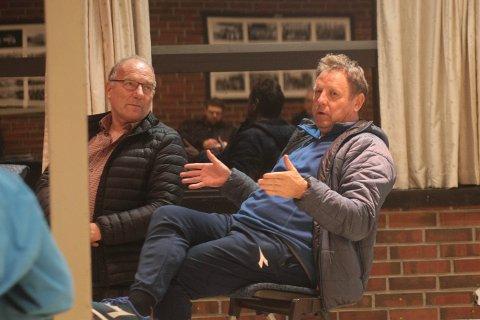 Jostein Løland (t.v) og Bjarne Berntsen er to av medlemmene av interessegruppa som skal finslipe Figgjo-taktikken foran orienteringsmøtet med Statens vegvesen 6. november.
