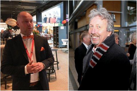 Norwegian Outlet, her ved Anker Wiinberg (t.v) og Blink-arrangør Odd Langhelle (t.h) og hans firma Axelar er begge nominert til Reiselivsprisen.