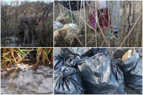 I løpet av noen timer lørdag ettermiddag plukket en liten gruppe frivillige 116 kilo søppel i området rundt Straumsånå på Skurve. Neste dag ble det tatt 14 kilo til.