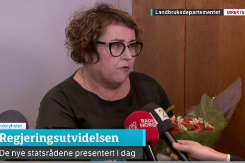 Olaug Bollestad (KrF) fra Ålgård ble i dag ny landbruks- og matminister.