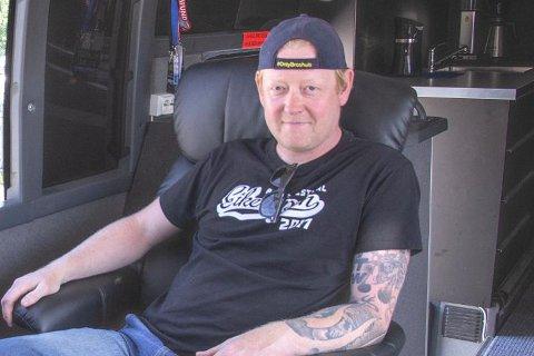 Tom Are Åsen kjører vanligvis Ålgårds eneste bandbuss.