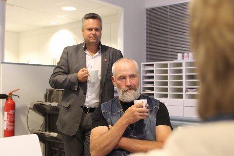 Dag Tveit, foran, varsler at han gir seg som Gjesdal Venstres toppmann etter mandagens fiaskovalg.