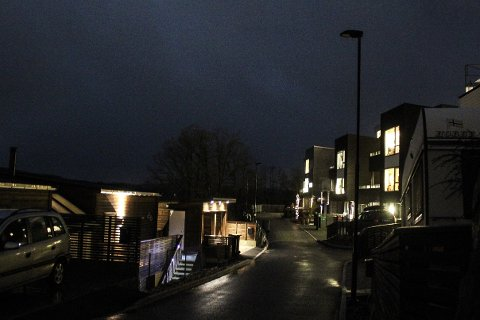 Brunnvigå er en av gatene på Ålgård der gatelysene har vært vekke i lange tider.