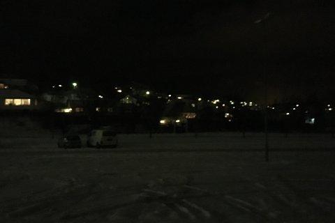 Slik var utsikten fra Gjesdalhallen mot Åfaret igår kveld.