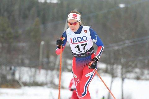 Renate Bergset Tjetland fra Ålgård deltar i norgesmesterskapet på ski denne helga. Her fra åpningsrennet på Beitostølen i fjor høst.
