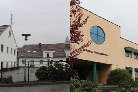 Fasadane til Ålgård skole og Gjesdal ungdomsskole treng vedlikehald.