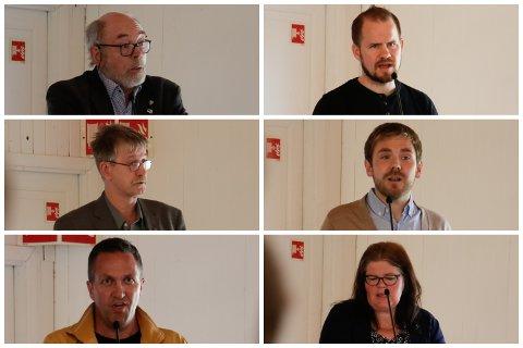Henry Tendenes (H), Vidar Nedrebø (Sp), Trygve Ravndal (Frp), Tom Kalsås (Ap), Andreas Eidsaa jr. (KrF) og Margunn Nedrebø (Sp) var eit knippe av politikarane som ville seia sitt om bompengar.