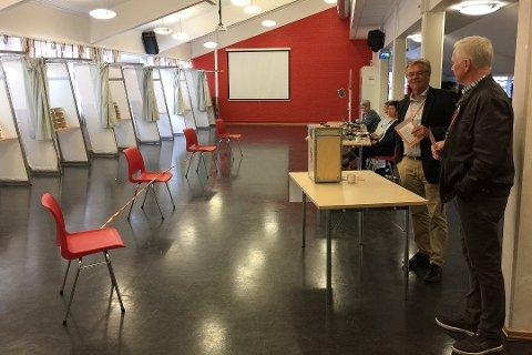 9. september er det kommunestyre- og fylkestingsvalg, og Gjesdal kommune trenger flere som kan bidra som valgmedarbeidere. Her fra valgdagen på Bærlandhuset i 2017.