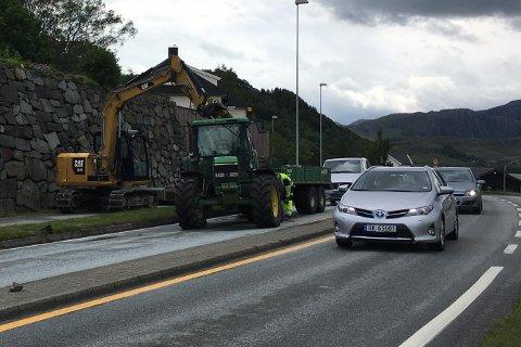 All trafikk ble dirigert i sørgående kjørefelt