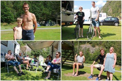 Danskar, nederlendarar og austlendingar er blant dei som vel å feriera på Frafjord camping.