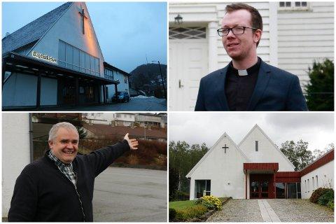 Søndag besøkte baptistprest Magnar Mæland gudstjenesten til prest Bjarte Hetlebakke i Oltedal kyrkje. Med seg hadde han en gave fra baptistkirken.