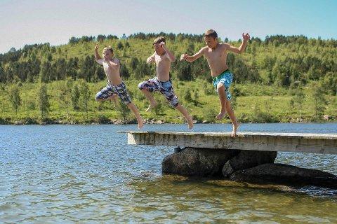 Raudvigå er en populær badeplass når den norske sommeren er på sitt beste.