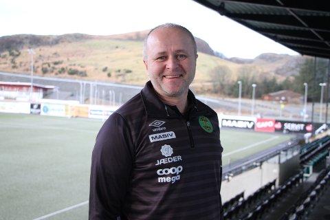 Terje Tjetland, daglig leder i Ålgård FK, er naturlig nok kjempefornøyd med at klubben gikk med overskudd i 2019.