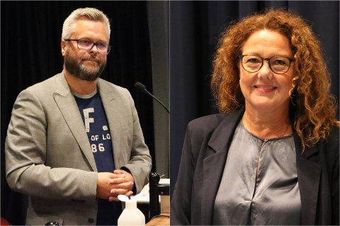 Espen Aaserud Karlsen (Frp) og Anne B. Rørnes (Ap) var ikke enige om hvor mange flyktninger de vil ha til kommunen neste år.