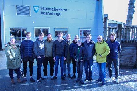 Fra venstre: Trine Pedersen, Ådne Lian, Oddfinn Hovland, Asbjørn Jøntvedt, Håkon Ørmen Asheim, Jan Frode Bollestad, Tobias Strandberg, Arthur Michaelsen, Konrad Blicharz, Tommy Høgås og Pål Nese.