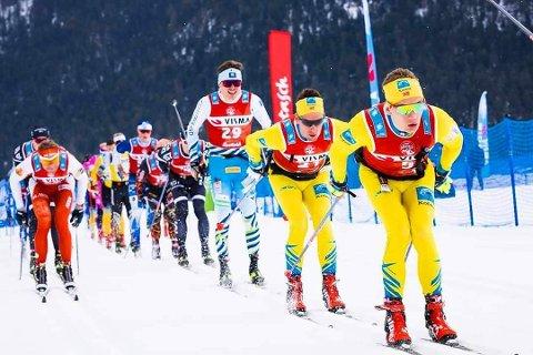 Stian Hoelgaard stiller til start i årets Sesilåmi. Dette bildet er tatt under årets løp i Marcialonga.