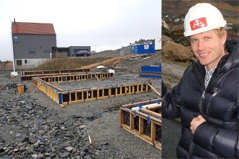 Svein Olav Aalgaard gleder seg over godt salg på Rossåsen.