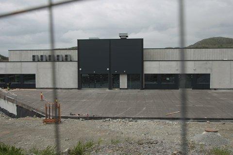 Ålgårdhallen tar form. Neste år blir hallen arena for norgesmesterskap i volleyball.