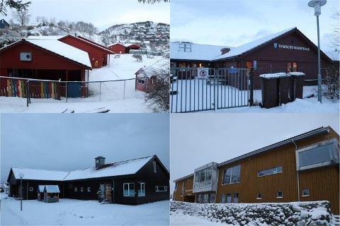 Kommunen skal legge ned en barnehage. Men hvilken. Her er Solås, Bamsebo, Nesjane og Kodlidalen.