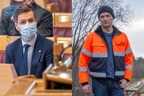 Samferdselsminister Knut Arild Hareide (KrF) mener at Ålgårdbanen er «i svært dårlig stand», men møter motbør hos Trond Egil Aa. Bøe i Ålgårdbanens venner.