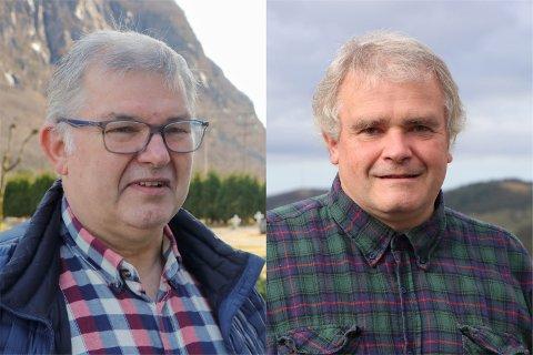 Ole Andreas Byrkjedal (t.v) og Magnar Mæland er bønder og KrF-politikere. Akkurat nå er ikke den kombinasjonen særlig kjekk for noen av dem.