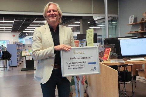 Fram til og med 10. september kan man forhåndsstemme hver dag unntatt søndag på Veveriet. Ordfører Frode Fjeldsbø forteller at det ved forrige valg var rundt 4000 gjesdalbuer som forhåndsstemte.