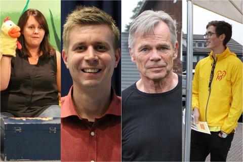 Camilla Oseland (fra venstre), Terje Angelskår, Per Markestad og Lars Ramsli Søyland får nye roller i Gjesdal-politikken.