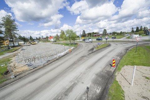 Bussterminal: Her kommer den nye bussterminalen på Skotterud. Foto: Jens Haugen