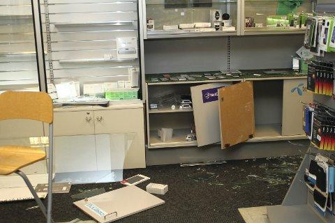 STORE VERDIER: Det antas å være stjålet store verdier fra databedrifter i Kaffegata. Foto: Kenneth Mellem