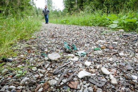 TURSTI: Skogsbilvegen var mye brukt som tursti og ligger i jaktområde.