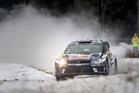 """VM-rally også i år: Andreas Mikkelsen deltok i RAlly Sweden i år. Bildet er tatt på etappen """"Röjden"""""""