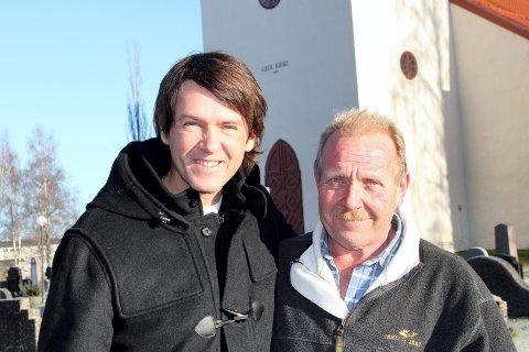 Avlyst: Tommy Michaelsen og Tom Sollien i Håp-arrangementet, beklager at de må avlyse årets Håp-konsert i Grue kirke. Foto: Kenneth Mellem