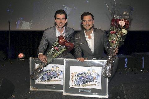Fikk pris: KNA Kongsvinger-duoen Anders Jæger (t.v.) og Andreas Mikkelsen.