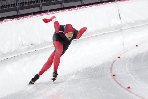Gullgutt 1: Isak Høiby feide all motstand til side, og vant 500-meteren i guttenes 15-årsklasse på en imponerende måte.