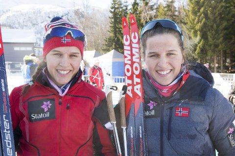 PÅ LANDSLAGET: Tiril og Lotta Udnes Weng vil få god oppfølging på rekruttlandslaget i langrenn kommende sesong.